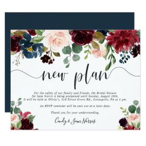 Radiant Bloom Bridal Shower Postponement Card starting at 2.21