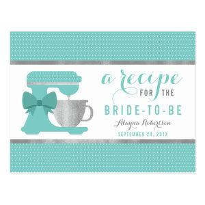 Recipe Card for the Bride, Kitchen Shower starting at 1.20