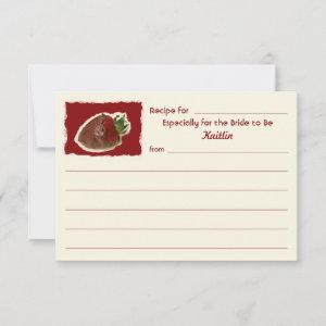 Recipe Cards for Bridal Shower on Invitation Paper starting at 2.36
