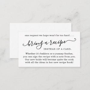 Recipe Request for Bridal Shower starting at 0.24