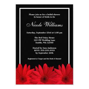 Red and Black Daisy Bridal Shower Invitation starting at 2.40
