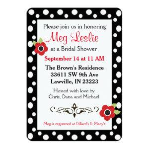 Red and Black Flowers Dots Invitation starting at 2.71