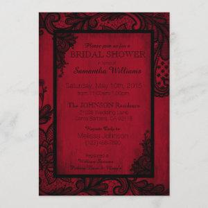 Red and Black Lace Gothic Bridal Shower Invitation starting at 2.82