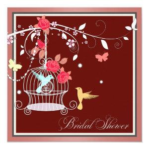 Red and Coral Birdcage Bridal Shower Invitation starting at 2.40