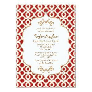 Red and Gold Moroccan Bridal Shower Invites starting at 2.66