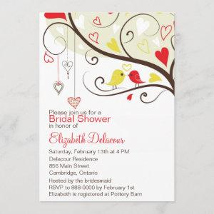 Red and Yellow Love Birds Bridal Shower Invitation starting at 2.51