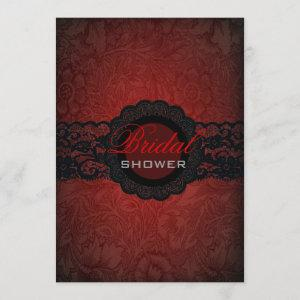 Red Black Lace Gothic Bridal Shower Invitation starting at 2.77