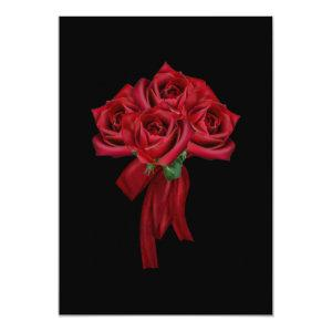 Red Bow and Roses Gothic Bridal Shower Invitation starting at 2.82