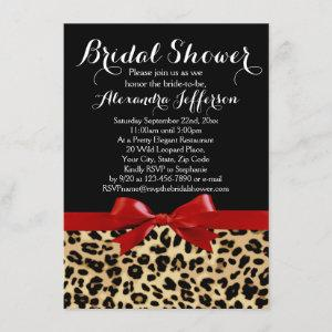 Red Bow Leopard Print Bridal Shower Invitation starting at 2.40