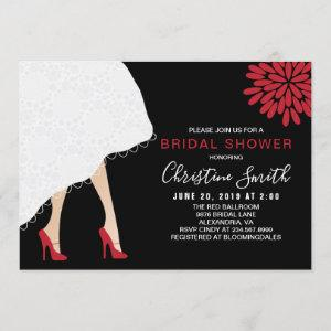 Red High Heel Shoes Bridal Shower Invitation starting at 2.30