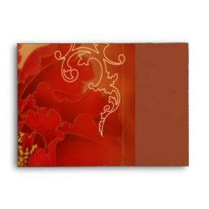 Red Peony Double Happiness Chinese wedding Envelope starting at 1.10