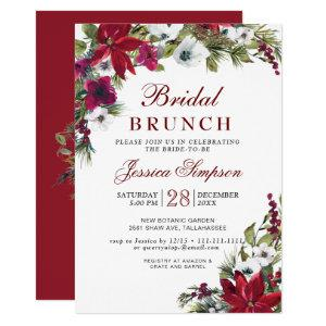 Red Poinsettia Floral Christmas Bridal Brunch Invitation starting at 2.10