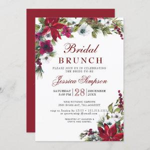 Red Poinsettia Floral Christmas Bridal Brunch Invitation starting at 2.35