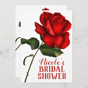 Red Rose Beauty & The Beast Bridal Shower Invitation starting at 2.71