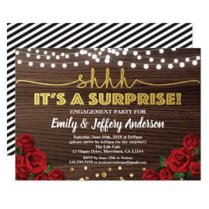 Red rose surprise engagement party invitation starting at 2.40
