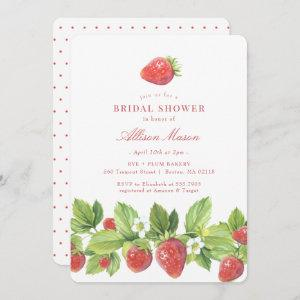 Red Strawberry Berry Bridal Shower Invitation starting at 2.66