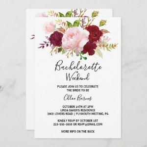 Red Tropical and Romantic Bachelorette Invitation starting at 2.51