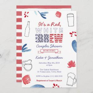 Red White and Brew Couples Shower Engagement Party starting at 2.66