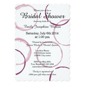 Red wine stain rings bridal shower invitations starting at 2.70
