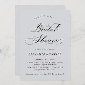 Refined | Calligraphy on Soft Gray Bridal Shower starting at 2.66