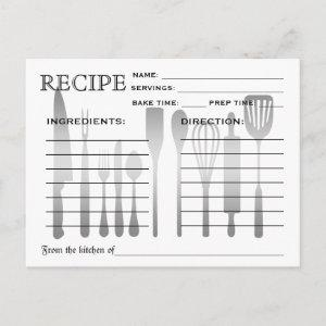 Retro Fancy Chalkboard Bridal Shower Recipe Cards starting at 1.70