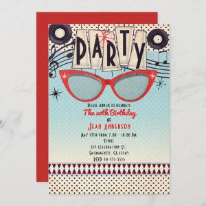Retro Vintage 1950's Fifties Party Invitations starting at 2.98