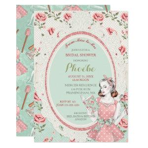 Retro Vintage Housewife 50's Bridal Shower Invitation starting at 2.55