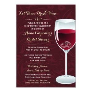Rings in Wine Glass Bridal Wedding Shower Invitation starting at 2.82