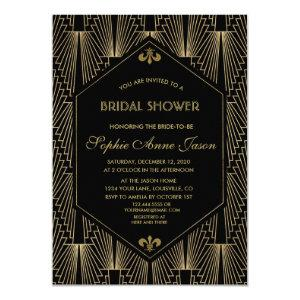 Roaring 20s Great Gatsby Art Deco Bridal Shower Invitation starting at 2.20