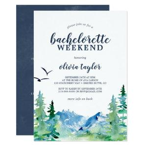 Rocky Mountain Bachelorette Weekend with Details Invitation starting at 2.51