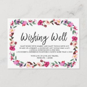 Romantic Fairytale Wreath Wedding Wishing Well Enclosure Card starting at 1.91