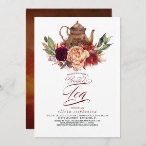 Romantic Floral Earthy Fall Bridal Shower Tea starting at 2.51