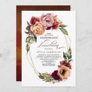 Romantic Floral Earthy Fall Bridesmaids Luncheon starting at 2.51