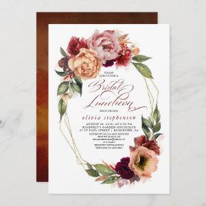 Romantic Floral Earthy Tones Fall Bridal Luncheon starting at 2.51