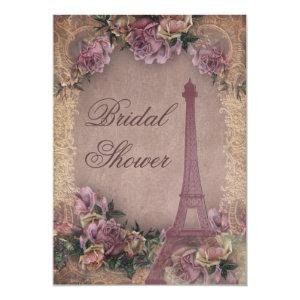 Romantic Paris Vintage Roses Lace Bridal Shower Invitation starting at 2.66