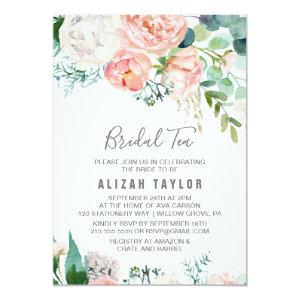 Romantic Peony Flowers Bridal Tea Invitation starting at 2.26