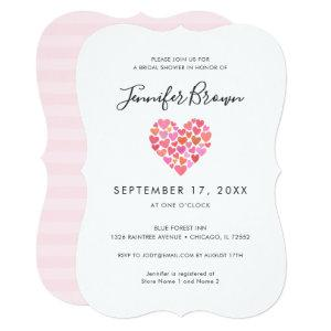 Romantic Pink Heart Bridal Shower Invitation starting at 2.76