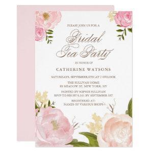 Romantic Pink Watercolor Flowers Bridal Tea Party Invitation starting at 2.40