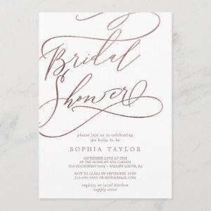 Romantic Rose Gold Calligraphy Bridal Shower starting at 2.51