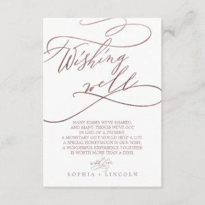 Romantic Rose Gold Calligraphy Wishing Well Card starting at 1.91