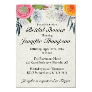Romantic Southwest Bridal Shower Invitation starting at 2.45