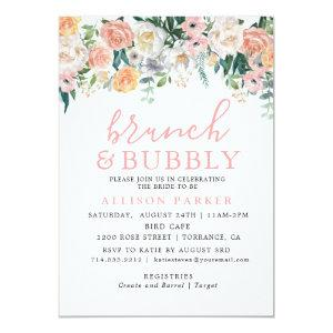 Romantic Watercolor Flowers Brunch & Bubbly Cards starting at 2.61