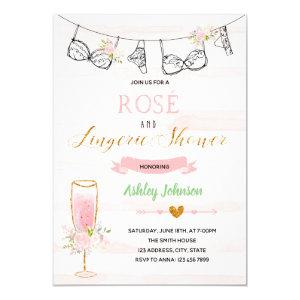 Rose and lingerie party invitation starting at 2.50