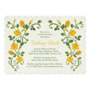 Rose Bridal Shower Invitation | Yellow Watercolor starting at 2.91