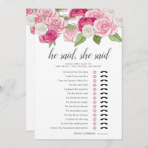 Rosé Garden Double-Sided Bridal Shower Game starting at 2.51