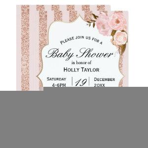 Rose Gold Baby Shower Invitation starting at 2.66