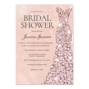 Rose Gold & Blush Pink Bridal Shower Invitation starting at 2.40