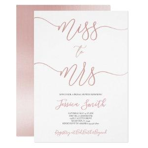 Rose Gold Bridal Shower Invitation, Rose Gold Foil Invitation starting at 2.55