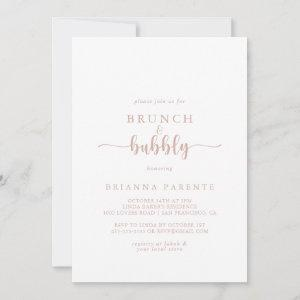 Rose Gold Brunch and Bubbly Bridal Shower  Invitation starting at 2.51