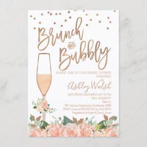 Rose Gold Brunch Bubbly Bridal Shower Invitation starting at 2.10